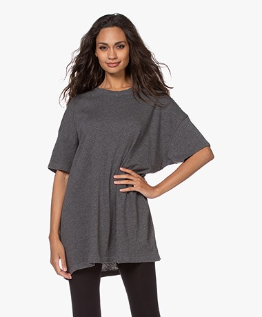 American Vintage Sonoma Oversized T-shirt - Grijs Mêlee