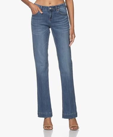 MKT Studio The Janis Wilson Flared Jeans - Light Blue Clapton Wash
