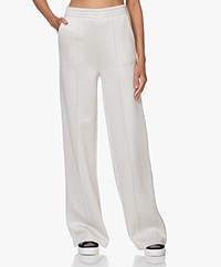 Joseph Double-jersey Wide Leg Trackpants - Sand