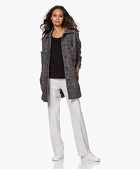 no man's land Heathered Wool Blend Jacket - Core Black