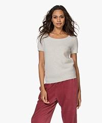 American Vintage Nuasky Short Sleeve Sweater - Polar Melange