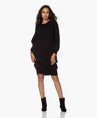 American Vintage Zabibay Knitted Mohair Blend Dress - Black