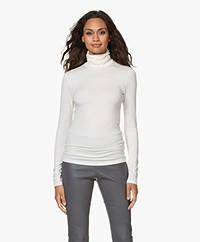 Majestic Filatures Amy Viscose Soft Touch Jersey Colshirt - Milk