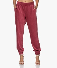 Closed Boho Corduroy Jersey Sweatpants - Cabernet Red