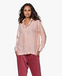 ba&sh Victoire Viscose Blend Pinstripe Shirt - Pastel Pink