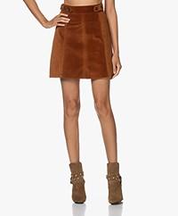 Vanessa Bruno Panpi Velvet A-line Skirt - Caramel