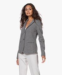 no man's land Getailleerde Double-jersey Blazer - Dark Steel