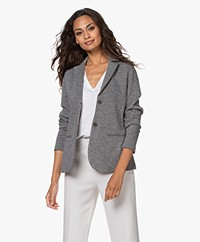 no man's land Tailored Double-jersey Blazer - Dark Steel