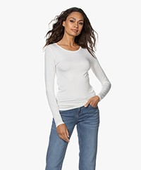 Majestic Filatures Ally Round Neck Long Sleeve - Milk