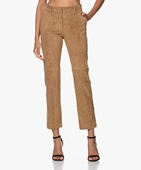 Joseph Coleman Suede Pants - Saddle
