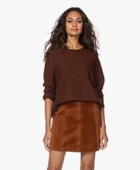 Drykorn Maila Virgin Wool Sweater - Bitter Chocolate