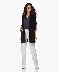 Belluna Moonlight Mid-length Blazer Cardigan - Navy