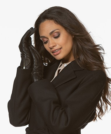 Filippa K Women Zip Gloves - Black