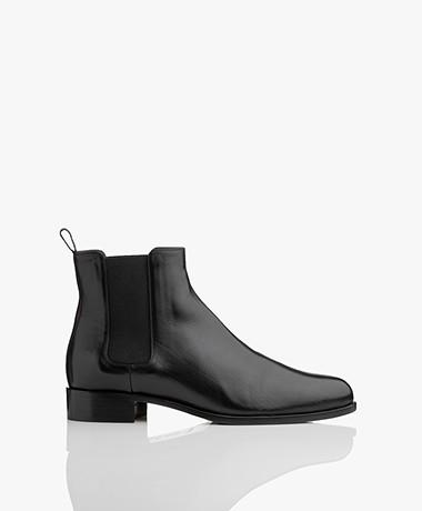 Panara Chelsea Leather Boots - Black