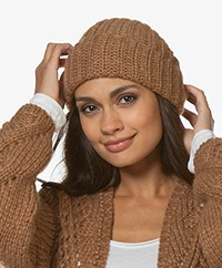 Sibin/Linnebjerg December Alpaca Blend Rib Hat - Brown Sugar