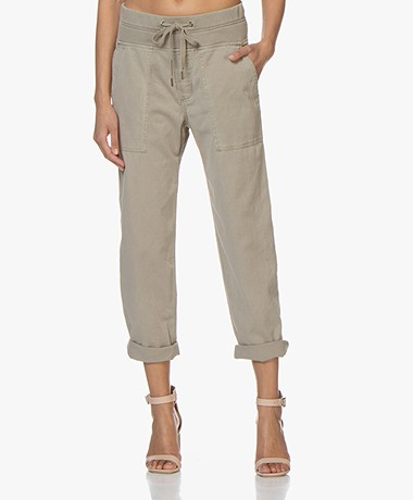 James Perse Pull On Clean Cargo Slub Broek - Chino