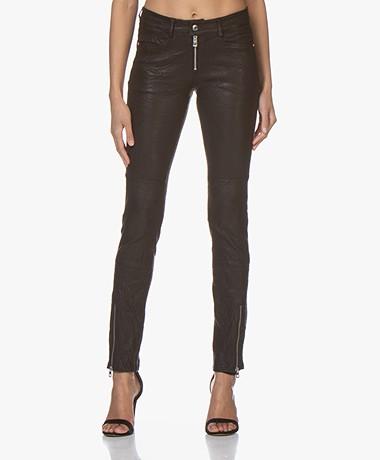 Zadig & Voltaire Phlamo Skinny Leather Pants - Black
