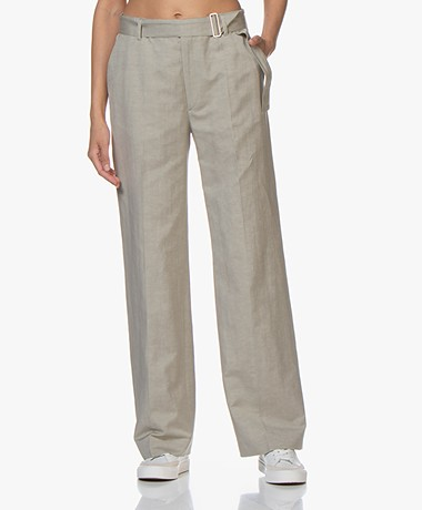 Filippa K Hedwig Linen Blend Pants - Light Sage