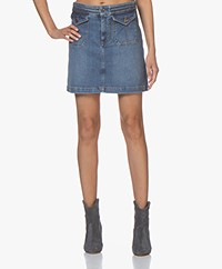 Vanessa Bruno Naoto Denim Mini Skirt - Indigo Clair