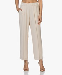 Pomandère Loose-fit Crepe Pants - Nude