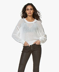 IRO Palos Cotton Mesh Sweater - White