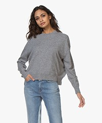Closed Fine Knitted Merino Blend Sweater - Heather Grey