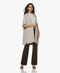 Repeat Open Short Sleeve Cardigan - Desert