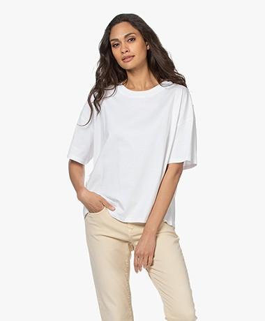 ba&sh Amor Katoenen T-shirt - Wit