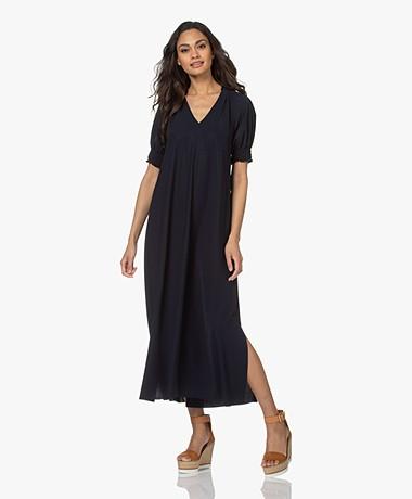 JapanTKY Arky Travel Jersey Maxi Dress - Blue Black