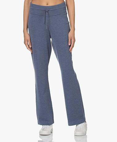 Plein Publique Le Lourdes Knitted Merino Blend Pants - Jeansblue