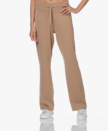 Plein Publique Le Lourdes Knitted Merino Blend Pants - Sand