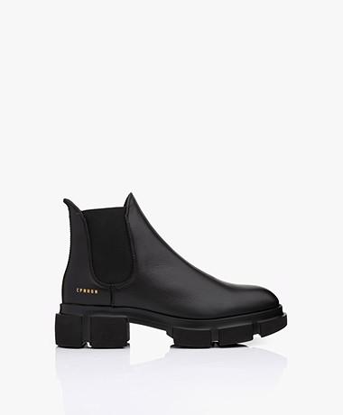 Copenhagen Studios Korte Leren Chelsea Boots - Zwart