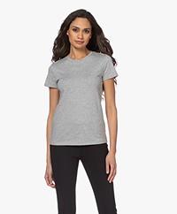 Vince Essential Crew Pima Cotton T-shirt - Grey Melange