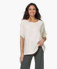 Sibin/Linnebjerg Portal Short Sleeve Sweater - Off-white