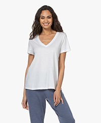 HANRO Modal Blend V-neck T-shirt - White