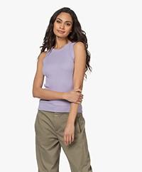 Drykorn Olina Cotton Rib Jersey Tank Top - Lilac