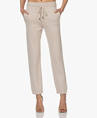 Repeat Gebreide Katoenmix Sweatpants - Beige