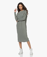 American Vintage Organic Cotton Jersey Dress - Olive