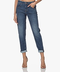 Drykorn Like Girlfriend Stretch Jeans - Middenblauw