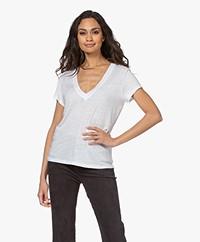 IRO Rodeo Linen V-neck T-shirt - White