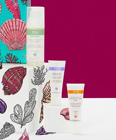 REN Clean Skincare Face Favourites - Gift Set Trio