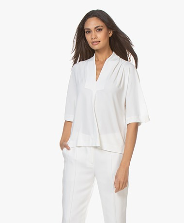 By Malene Birger Bijana Crêpe Jersey T-shirt - Soft White