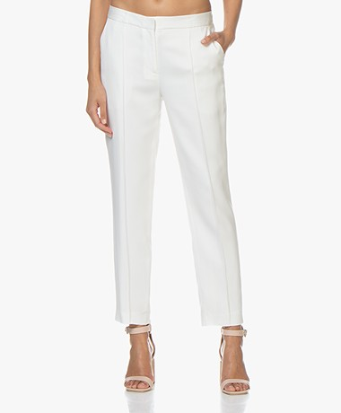 By Malene Birger Santsi Stretch Viscose Pants - Soft White