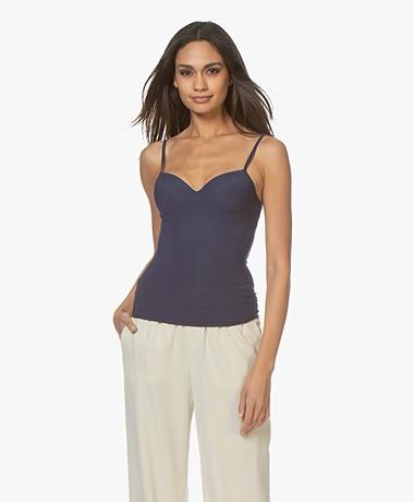 HANRO Allure Bra Camisole - Elegant Blue