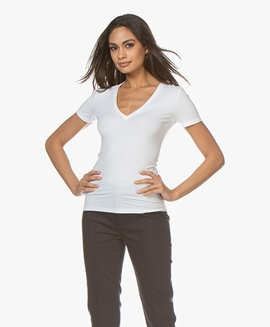 Drykorn Linara V-neck T-shirt - White
