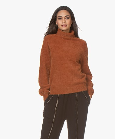 Plein Publique Le Doux Soft Turtleneck Sweater - Rust
