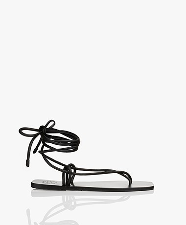 ATP Atelier Alezio Nappa Leather Strappy Sandals - Black