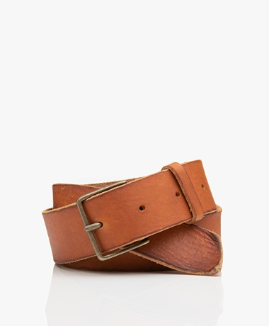 forte_forte Leather Belt - Miele