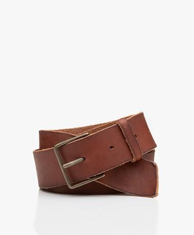 forte_forte Leather Belt - Papaya