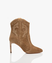 ba&sh Caitlin Suede Ankle Boots - Sand